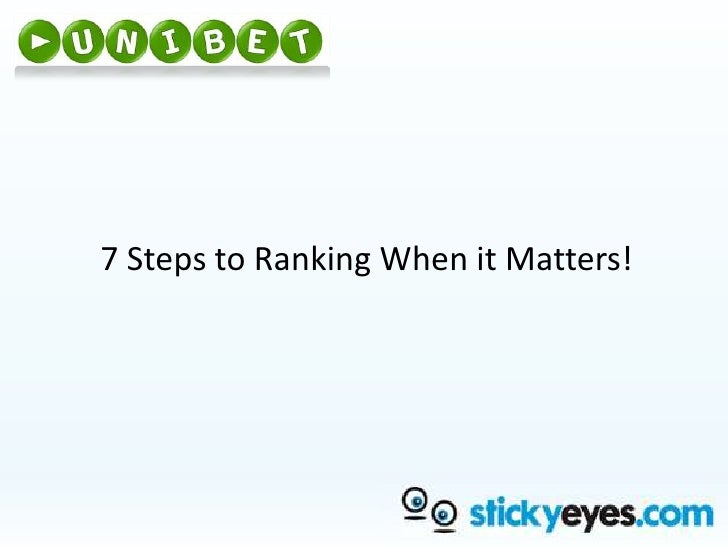 7 Steps to Ranking When it Matters!<br />