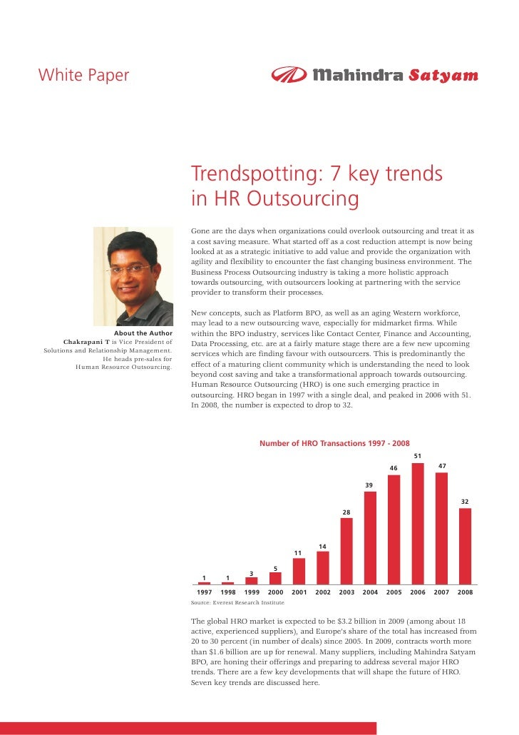 Trendspotting: 7 key trends in HR Outsourcing