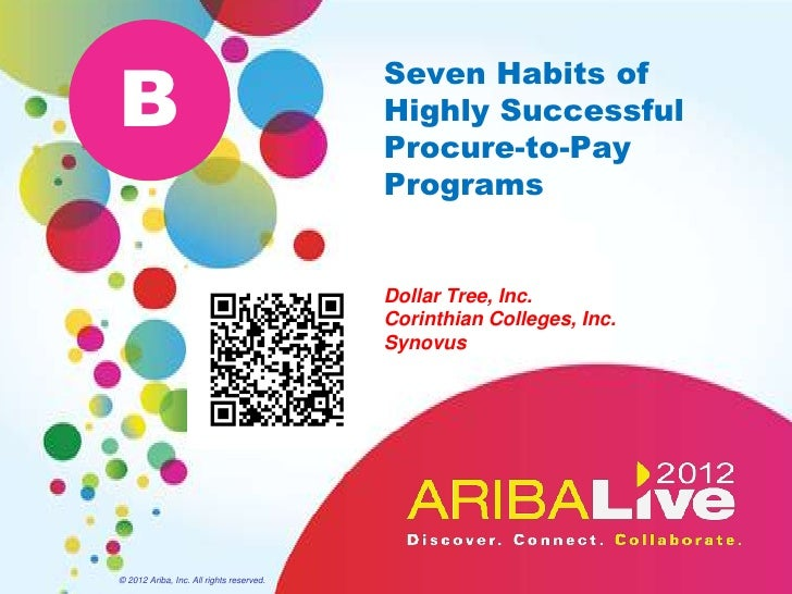Seven Habits of Highly Successful Procure-to-Pay Programs