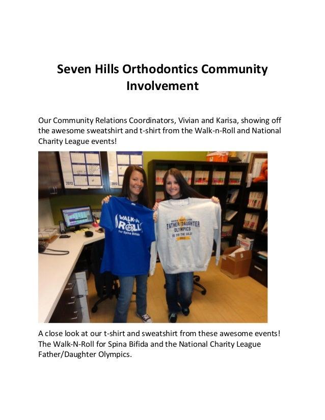 Seven Hills Orthodontics CommunityInvolvementOur Community Relations Coordinators, Vivian and Karisa, showing offthe aweso...