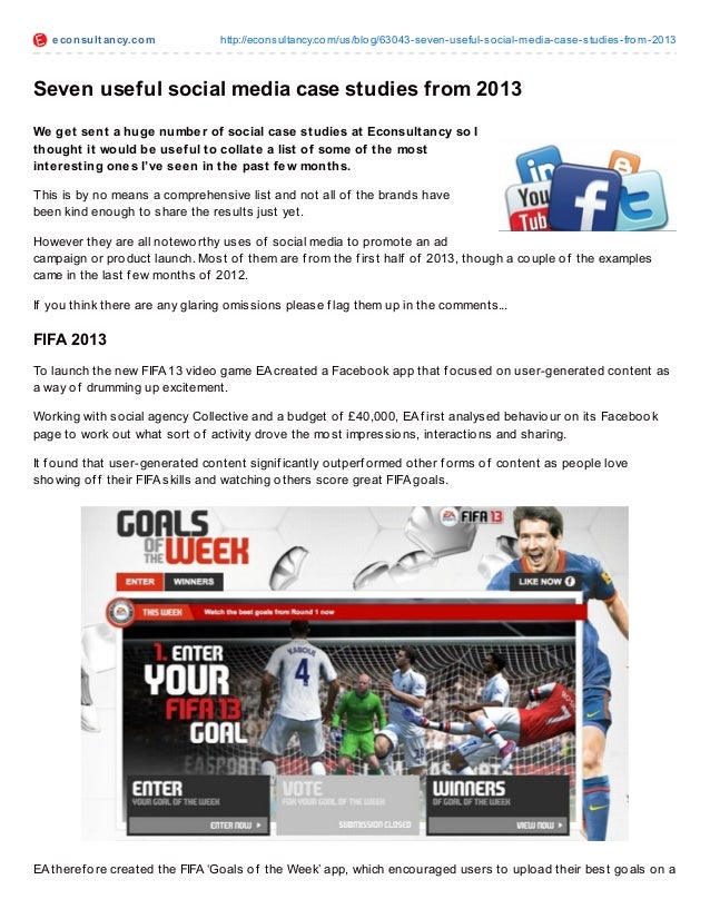 Seven social media case studies   2013