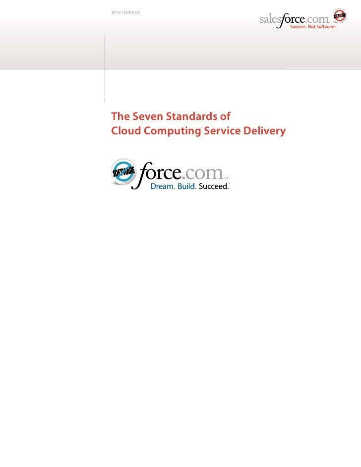 Seven standards of cloud computing