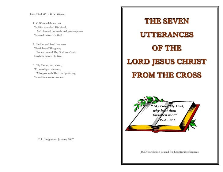 Seven Utterences Of The Lord