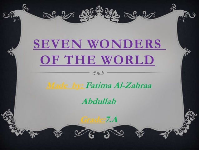 Ancient Seven Wonders of the World