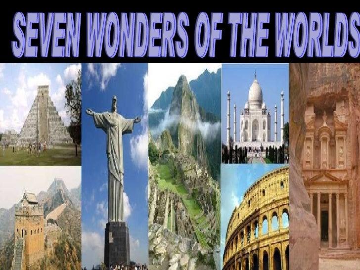 presentation on seven wonders of the world