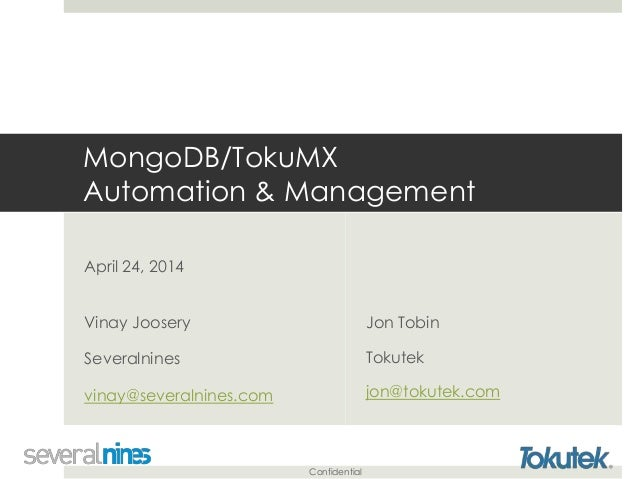 Management and Automation of MongoDB Clusters - Slides