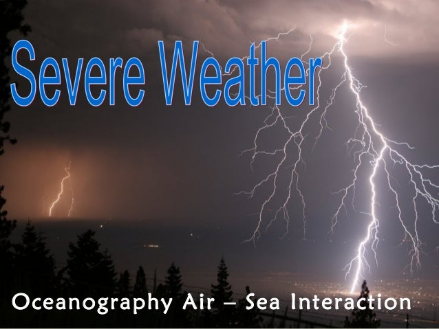 Oceanography Air – Sea Interaction