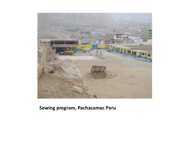 Sewing and Children's Programs in Pachacamac, Peru
