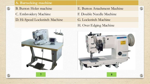 parts of a sewing machine quiz