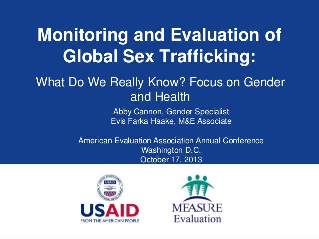 Monitoring and Evaluation of Global Sex Trafficking: What Do We Really Know? Focus on Gender and Health Abby Cannon, Gende...