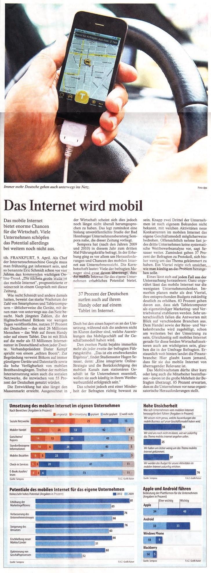 SEMPORA Studie Mobiles Internet 2012 - Hagen Sexauer