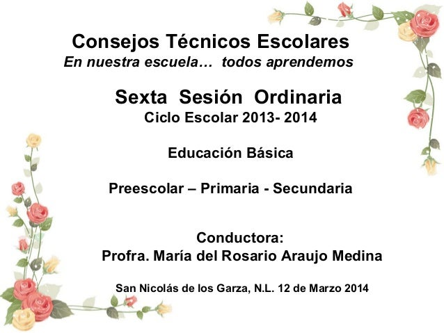 C. T. E. 6a Sesión Preescolar Región no. 2