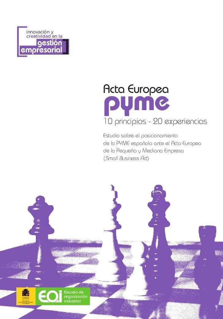 Sexto principio acta europea pyme