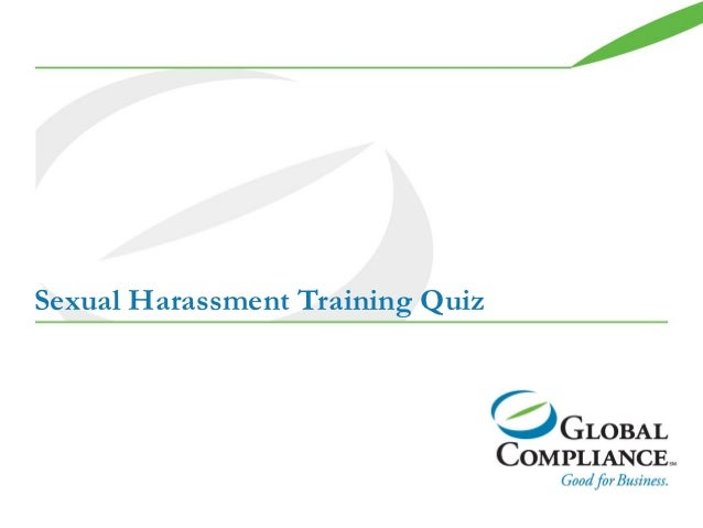 Sexual harassment-training-quiz