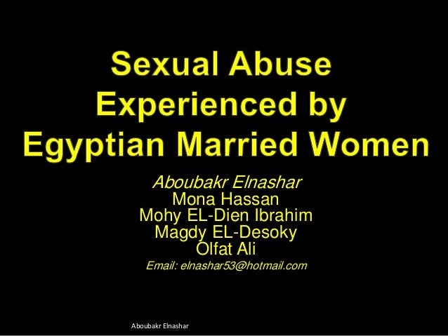 Sexual Abuse  Experienced by  Egyptian Married Women