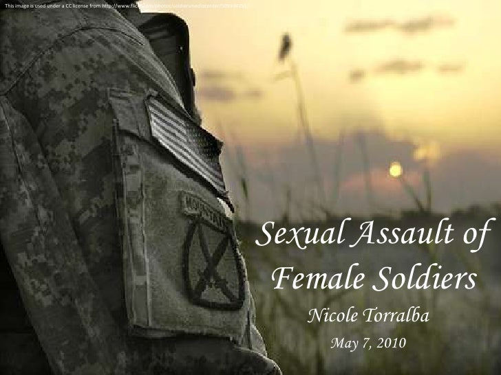 This image is used under a CC license from http://www.flickr.com/photos/soldiersmediacenter/509334255/<br />Sexual Assault...