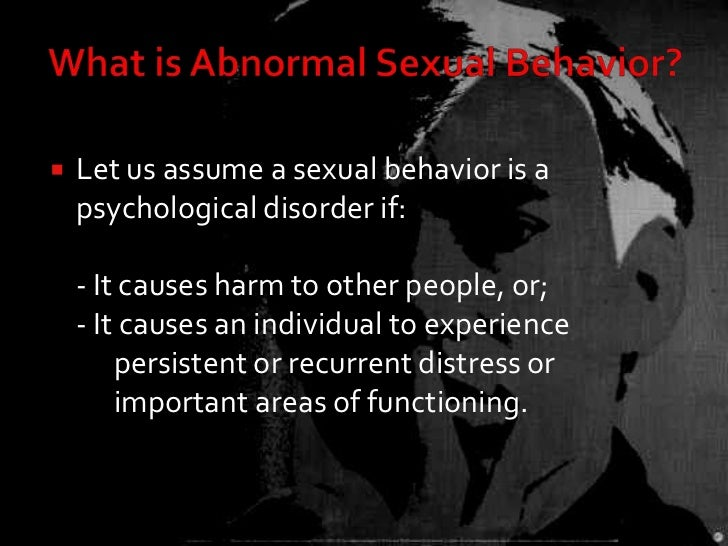 Sexual Disorders In Psychology