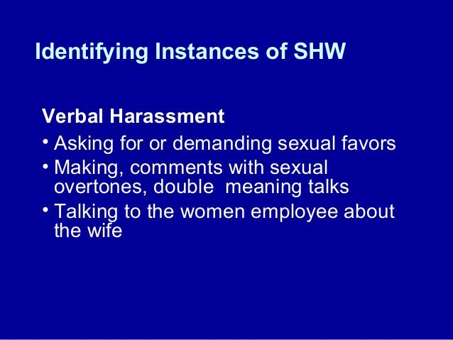 athletes and verbal harassment Sexual harassment in education in the united states is an unwelcome behavior of a sexual nature that verbal verbal sexual harassment includes unwanted.