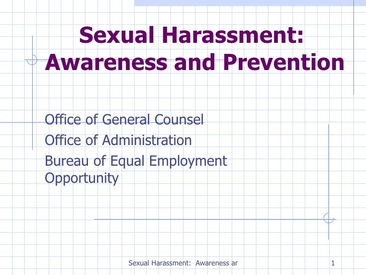 Sexual Harassment Employee Powerpoint