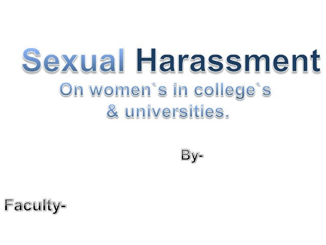 Hostile Hallways (2001)exposed an alarmingparadox. Students todayare more aware of sexualharassment policies thanthey were...