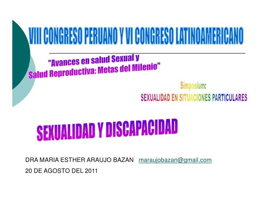 DRA MARIA ESTHER ARAUJO BAZAN maraujobazan@gmail.com20 DE AGOSTO DEL 2011