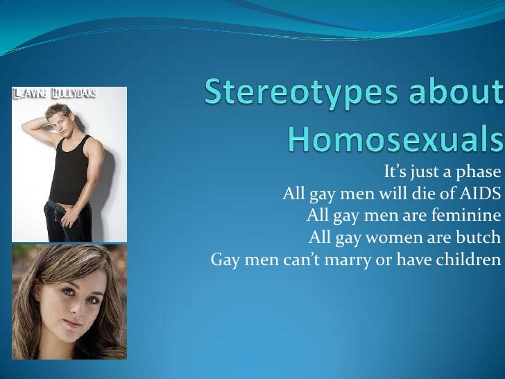 Representations In Media: HOMOSEXUALS?