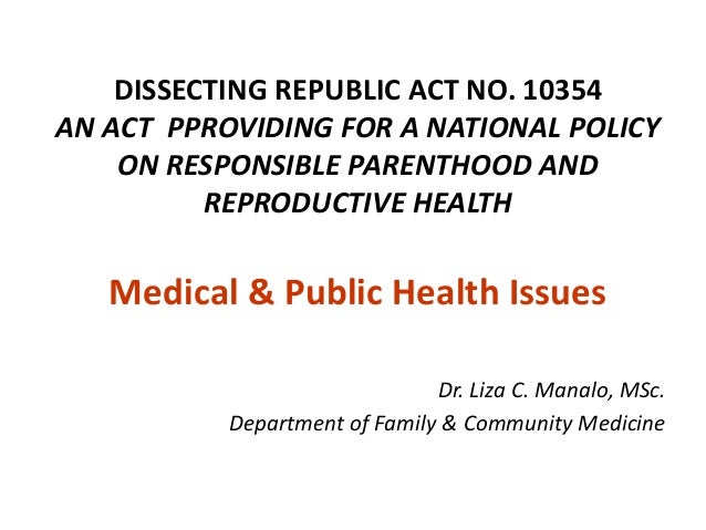 Dissecting the Philippines Reproductive Health Law