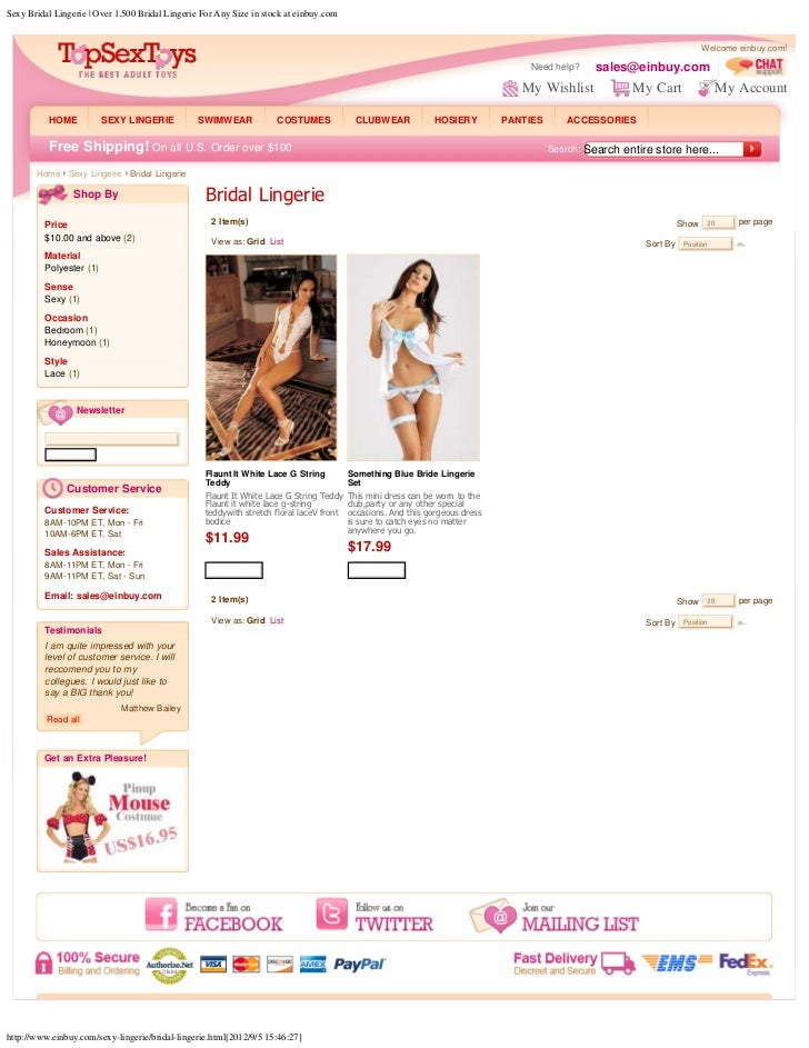 Sexy bridal lingerie   over 1.500 bridal lingerie for any size in stock at einbuy.com