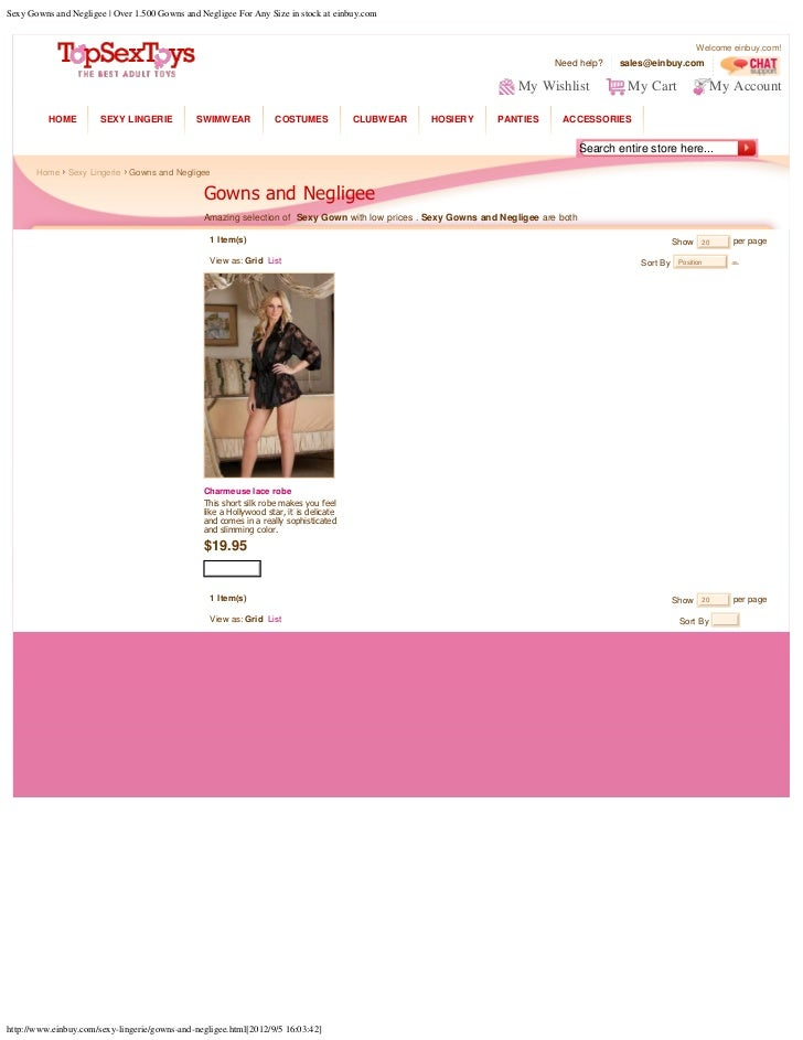 Sexy Gowns and Negligee | Over 1.500 Gowns and Negligee For Any Size in stock at einbuy.com                               ...