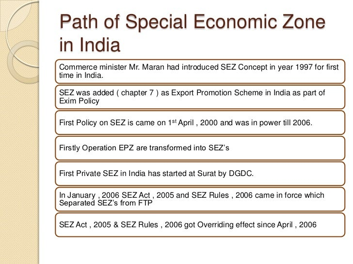 an analysis of the special economic zones in india Economic analysis of special economic zones in india and challenges faced by them a t srinivasa25 abstract.