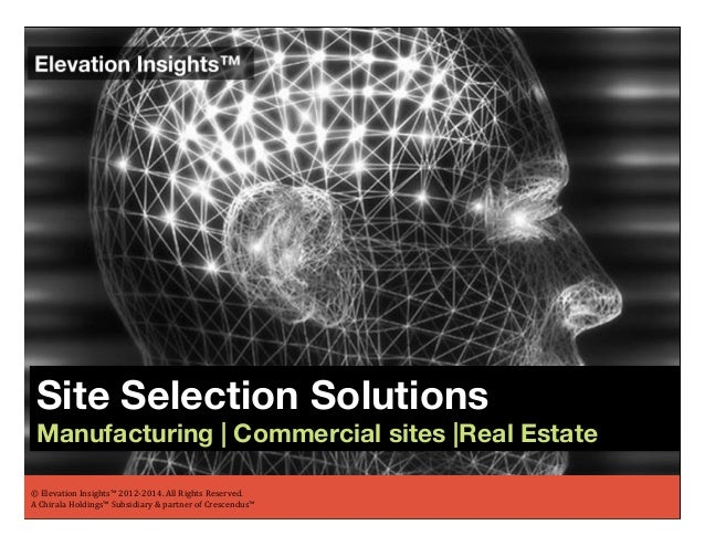 Elevation Insights ™ | Site Selection Solutions