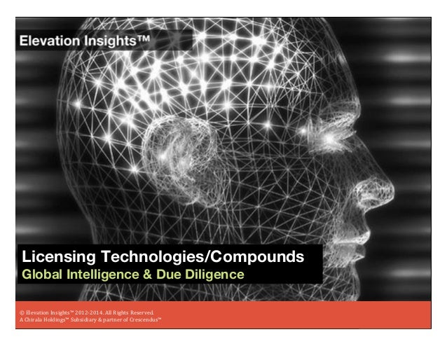 Elevation Insights ™ | Licensing Technologies/Compounds (Global Intelligence & Due Diligence)