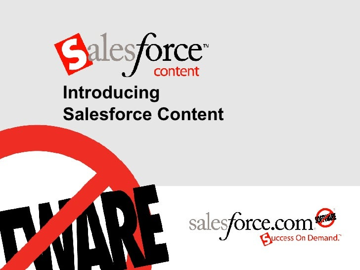 Introducing  Salesforce Content