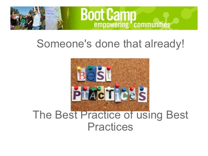Someone's Done that Already: The Best Practices of Sharing Best Practices, presented by Arthur Coddington, Peggy Duvette & Leo Romero