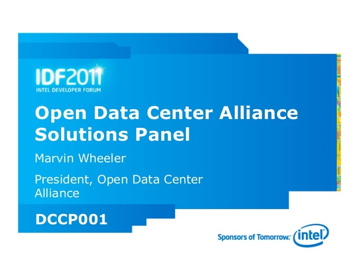 ODCA Solutions Panel at IDF 2011