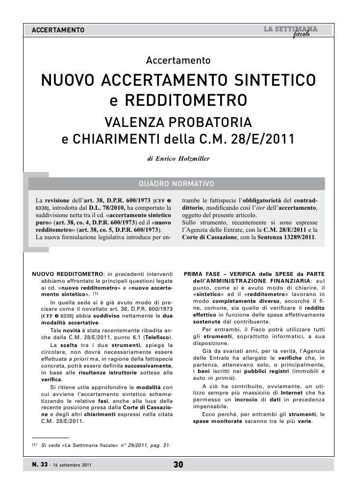 ACCERTAMENTO                                               Accertamento      NUOVO ACCERTAMENTO SINTETICO             e RE...