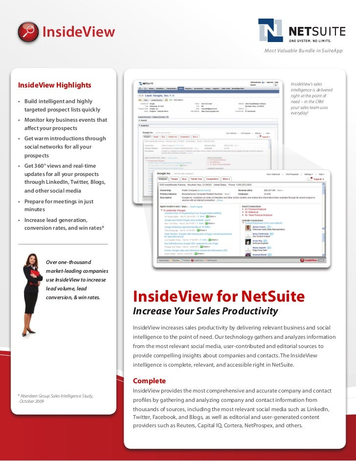 Driving Sales Intelligence with Netsuite CRM