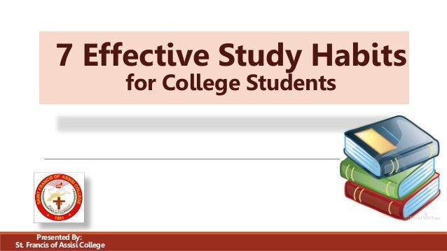 Effects of Study Habits on Academic Performances of ...