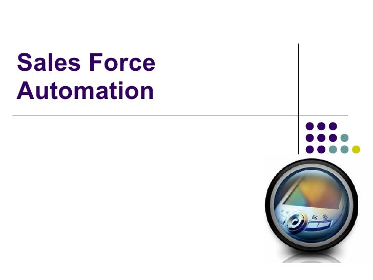 Sales Force Automation
