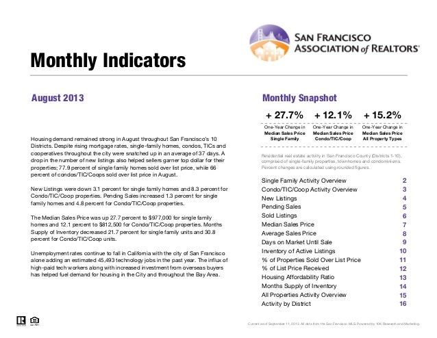 San Francisco Market Focus August 2013