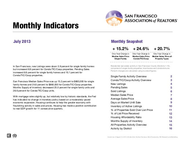 San Francisco Market Focus July 2013