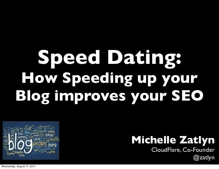 Speed Dating:           How Speeding up your          Blog improves your SEO                                     Michelle ...