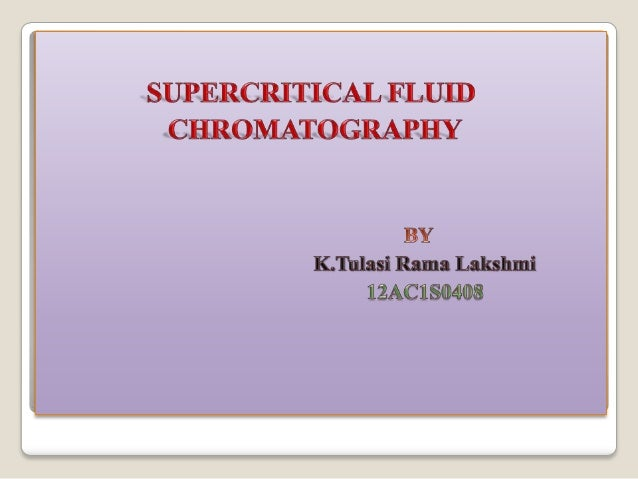 Supercriticalfluid chromatography