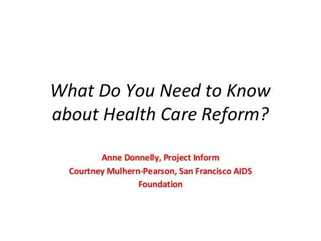 Healthcare Reform Presentation