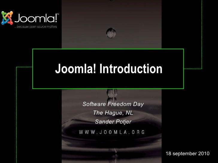 Joomla presentation @ Software Freedom Day 2010- The Hague