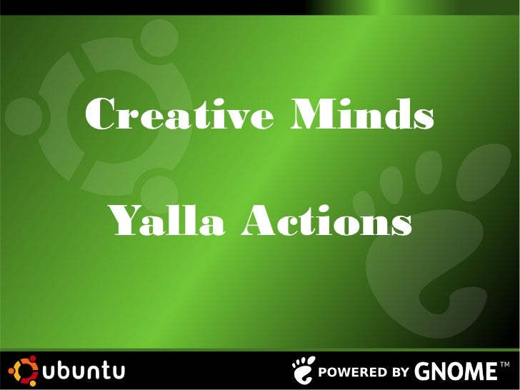 Creative Minds Yalla Action Software freedom day 2012 Alexandria, Egypt