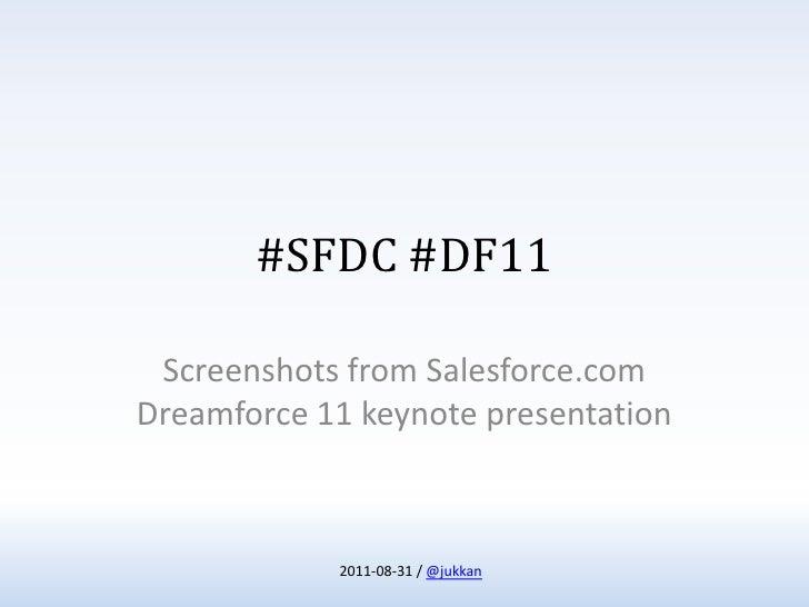 #SFDC #DF11
