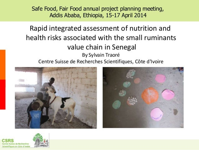 Rapid integrated assessment of nutrition and health risks associated with the small ruminants value chain in Senegal