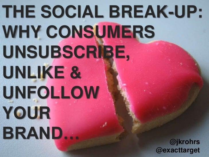 The Social Break Up - Suscribers, Fans, & Followers