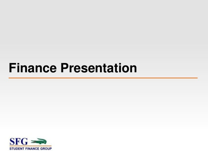SFG Finance Presentation 9/6/12